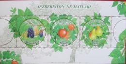 Uzbekistan  2019  Fruits  Of Uzbekistan  S/S   MNH - Uzbekistan