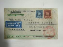 BELGIUM - LETTER FROM ANTWERP TO PORTO ALEGRE (BRAZIL) IN 1935 IN THE STATE - Storia Postale
