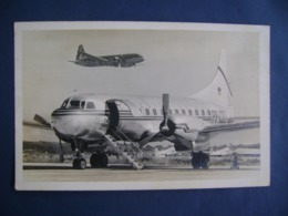 BRAZIL - RARE ORIGINAL POST CARD CRUZEIRO DO SUL COMPANY AIRCRAFT CONVAIR 340  IN THE STATE - 1946-....: Era Moderna