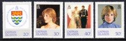 CAYMAN ISLANDS - 1982 PRINCESS DIANA 21st BIRTHDAY SET (4V) FINE MNH ** SG 549-552 - Cayman Islands