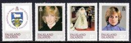 FALKLAND ISLANDS - 1982 PRINCESS DIANA 21st BIRTHDAY SET (4V) FINE MNH ** SG 426-429 - Falkland Islands