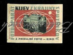 L3-156 CZECHOSLOVAKIA 1955 Kijev  Kiev 4 Rangefinder - Soviet Camera From Ukraine In Stores Foto - Kino - Matchbox Labels