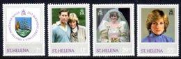 ST HELENA - 1982 PRINCESS DIANA 21st BIRTHDAY SET (4V) FINE MNH ** SG 397-400 - St. Helena