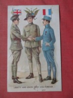 Great Britian USA France  Liberty & Union Now & Forever  Ref 3721 - Patriotiques