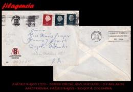 EUROPA. HOLANDA. ENTEROS POSTALES. SOBRE CIRCULADO 1970. AMSTERDAM. HOLANDA-BOGOTÁ. COLOMBIA. MARCA PARLANTE - Periodo 1949 – 1980 (Juliana)