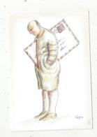 Cp , LA POSTE ,illustrateur TOPOR ,humour ,1988 ,tirage 2000 Ex. , Vierge - Correos & Carteros