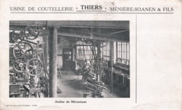 I169 - 63 - THIERS - Puy-de-Dôme - Usine De Coutellerie Ménière-Soanen Et Fils - Atelier De Mécanique - Thiers