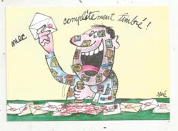 Cp , LA POSTE  , Illustrateur SINE ,humour ,1988 ,tirage 2000 Ex. , Vierge - Correos & Carteros