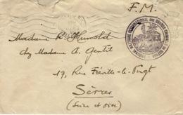 """Janvier 1946- Enveloppe En F M De Paris """" Tribunal Militaire International Des Grands Criminels De Guerre """" - WW II"""