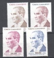 Turkey 1998 ** 16 Euros Complete Set - Unused Stamps