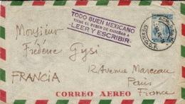 """1945- Cover From Mexico With """" TODO BUEN MEXICANO / Tiene El Deter De Ensenar A / Leer Y Escribir - Messico"""