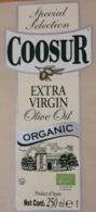 ACEITE DE OLIVA COOSUR ORGANIC EXTRA VIRGIN 250 ML ETIQUETA NUEVA - MINT. - Otros