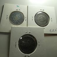 Portuguese Angola 3 Coins 10 Escudos Silver - Munten & Bankbiljetten