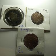 Portugal 3 Coins Bad Grade Monarchy Varnished - Mezclas - Monedas