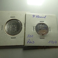 Portugal 2 Silver Coins Bad Grade Monarchy - Mezclas - Monedas