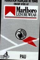 AUTOCOLLANT.FEDERATION FRANCAISE DE TENNIS..CIRCUIT D'ETE 87  MARLBORO    PAU.. - Stickers