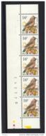 BUZIN, BANDE DE 5 DATEE ** MNH, STROOK VAN 5 MET DATUM, 31.01.1995, H F 2. - 1985-.. Birds (Buzin)