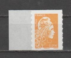 FRANCE / 2018 / Y&T N° AA 1594 ** : Marianne D'YZ (adhésif De Feuille) 0.01 € X 1 - état D'origine - Adhésifs (autocollants)