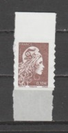 FRANCE / 2018 / Y&T N° AA 1596 ** : Marianne D'YZ (adhésif De Feuille) 0.10 € X 1 BdF Haut - état D'origine - Adhésifs (autocollants)