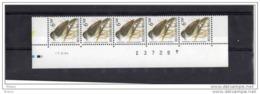 BUZIN, BANDE DE 5 DATEE ** MNH, STROOK VAN 5 MET DATUM, 17.11.1994, FLUO. - 1985-.. Birds (Buzin)
