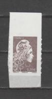 FRANCE / 2018 / Y&T N° AA 1595 ** : Marianne D'YZ (adhésif De Feuille) 0.05 € X 1 BdF Haut - état D'origine - Adhésifs (autocollants)