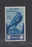 Tripolitania, 1933, 1li25 Golden Eagle, Mint Very Light Hinged (*), Fresh! Good Condition! - Adler & Greifvögel