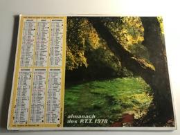 Calendrier - Almanach Des P.T.T  AIN - 1978 - Foret Cevenole / Fontaine De Vaucluse - Kalenders