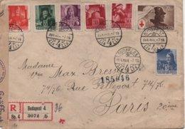 LETTRE RECOMMANDEE  GEOFFNET  1944 - Hongrie