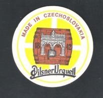 Bierviltje - Sous-bock - Bierdeckel :  PILSNER URQUELL-  CZECHOSLOVAKIA  (B 038) - Beer Mats