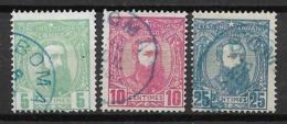 Belgian Congo 1887, Mi. Nr. 6/7/8 - 1884-1894 Vorläufer & Leopold II.