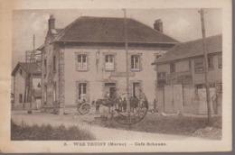 VAL DE VESLE - WEZ - CAFE SCHAUSS - Francia
