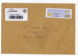 Enveloppe Avec Vignette D' Affranchissement FRANCE Lettre Suivie Oblitération G3 742580 13/09/2017 - 2000 «Avions En Papier»