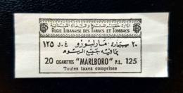 Lebanon Tobacco Fiscal Revenue Stamp P.L 125 Marlboro - Líbano