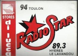 Autocollant - Radio Star - 94 Toulon - 89,3 Hyeres Le Lavandou - Pub Stores Di Lucca - Autocollants