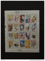 België Belgique 1999 Kuifje Tintin Eddy Merckx Kennedy Gandhi Guevara Mandela Piaf Beatles Etc. Blok BF 83 2858-2877 MNH - Blocks & Kleinbögen 1962-....