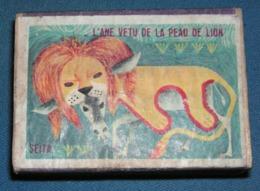 Boite D'allumettes : Fables : L'âne Vétu De La Peau De Lion - Boites D'allumettes - Etiquettes