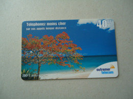 GUADELOUPE  PREPAID   USED   CARDS  LANDSCAPES PLANTS - Schede Telefoniche