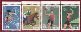 Korea 1972, KSC #1068-71, Perf 4V, Unissued, 20th Olympic Games, SCV $3000.00 - Sommer 1972: München