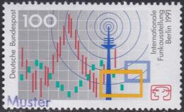 Specimen, Germany Sc1680 International Radio Exhibition - Weltausstellung