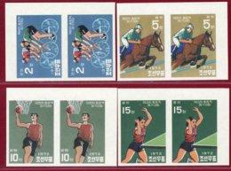 Korea 1972, KSC #1068-71, Imperf Pair, Unissued, 20th Olympic Games, SCV $6000.00 - Sommer 1972: München