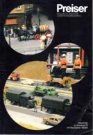 Catalogue PREISER Neuheiten 1988/89 Miniature Automodelle & Zubehör - Duits