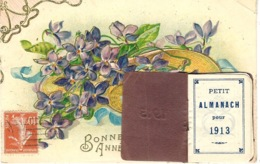 """1913- CPA De Bonne Année Avec """" Petit Almanach Pour 1913 """"  Incorporé - Móviles (animadas)"""
