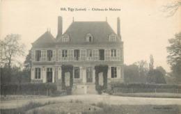 CPA 45 Loiret Tigy Chateau De Malaine - France