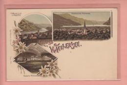 OUDE POSTKAART ZWITSERLAND - SCHWEIZ - LITHO- GRUSS AUS WALLENSEE - WALENSTADT - SG St. Gall
