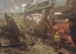 """CPM 10X15 .EUROTUNNEL CONSTRUCTION DU TUNNEL SOUS LA MANCHE 1994 .  """"Le Tunnelier Dans La Section Britannique Du Tunnel"""" - Ouvrages D'Art"""