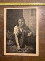 1889 ECDN TABLEAU DE VERNET LECOMTE UN HEUREUX AVENIR CARTES VOYANCE - Vecchi Documenti