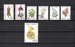Turquía   2003  .-   Y&T  Nº   3073/3074-3077/3080-3082 - Oblitérés