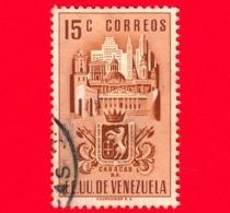 VENEZUELA - Usato - 1951 - Stemma Dello Stato Di Caracas - Arms - 15 - Venezuela