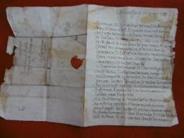 LETTRE AUTOGRAPHE SIGNE SPONTIN 1785 BRUXELLES VIA FLORENNES - Autographs