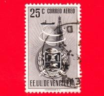 VENEZUELA - Usato - 1951 - Stemma Dello Stato Di Anzoategui - Arms - 25 - Venezuela